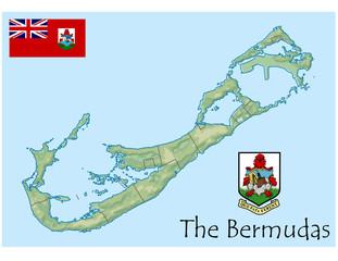 national emblem bermuda map coat