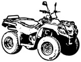 Four-wheel motorbike ATV. Vector.
