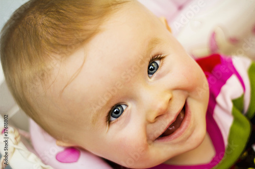 Baby Smiling Quotes Sweet Baby Smile Stock Photo