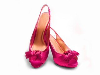 Pink fashion shoes