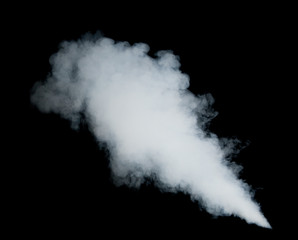 white smoke on black