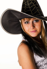 красивая девушка в шляпе