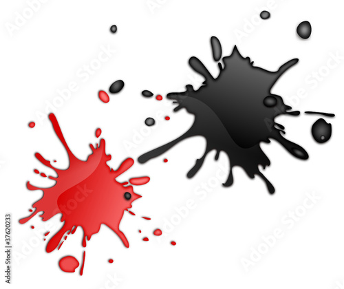 farbkleckse 3d schwarz und rot stockfotos und lizenzfreie vektoren auf bild 37620233. Black Bedroom Furniture Sets. Home Design Ideas
