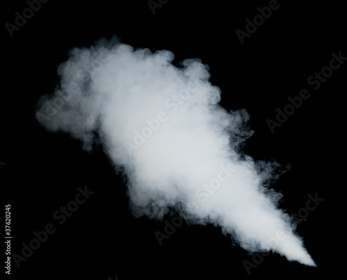 Fototapeta diagonalnej - biały - Dym