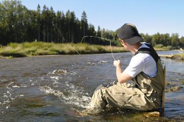 Fliegenfischer in Aktion