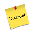 Post-it con chincheta texto Discount