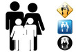 Family pictogram and signs