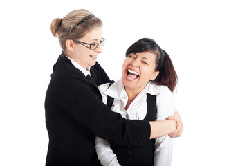 Happy business women funny moment