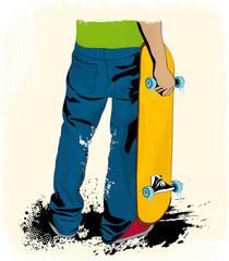 grunge styled skateboarding layout