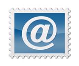 Briefmarke mit at symbol