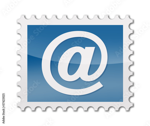 Briefmarke mit at symbol