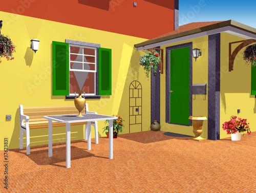 Casa Di Campagna Esterno Cortile Country Home Esterior 3d