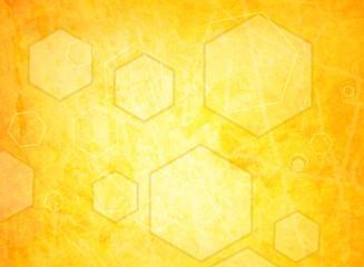 orange hexagon on a grunge