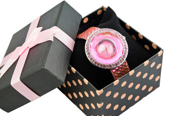 Womens Pink Watch In Box