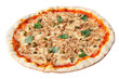 Pizza with tuna and capers