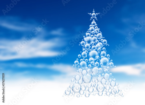 bubble shape xmas tree