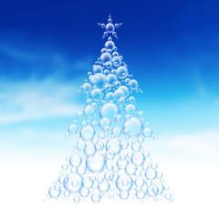 Christmas tree bubbles