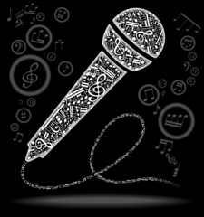 microphone notes black