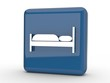 Button Hotelbett blau