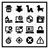 Security icons set – square series