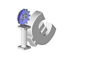Euro-Antik-Saeule-Blue