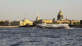 Tour hydrofoil ship on the Neva in St. Petersburg, Russia poster