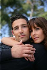 Portrait of a devoted couple