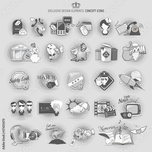 Design elements: Concept icons
