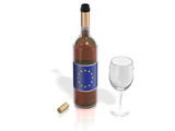 BOTTLE  OF WINE EUROPEAN UNION