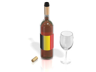 BOTTLE  OF WINE BELGIUM