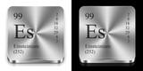 Einsteinium, two metal steel web buttons