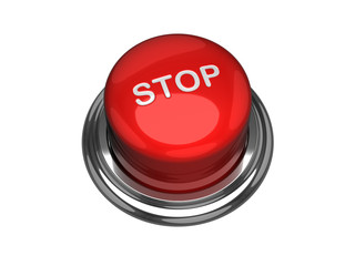 Stop button. Isolated on the white background