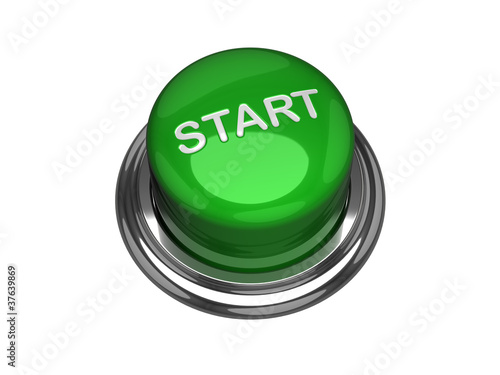 Start button. Isolated on the white background