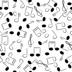 musical note seamless texture.tune symbols background