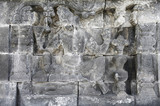 Detail of carved relief at Borobudur