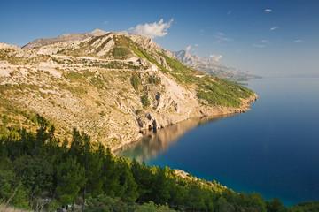 croatian coastline - makarska rivieara near brela