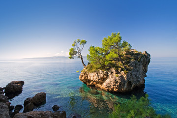 coast in brela, croatia