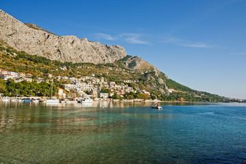omis coastline, croatia