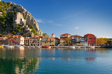 historic town omis, croatia