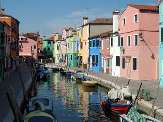 canale a Burano, Venezia