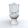 3D WC offen frontal