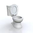 3D WC vor weissem Hintergrund