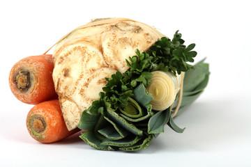 Karotten, Kohlrabi und Lauch