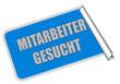 Sticker blau eckig rore MITARBEITER GESUCHT