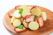 New potatoes and bacon