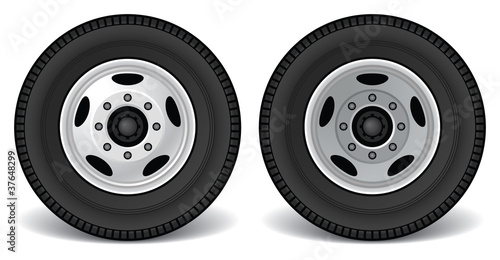 Heavy Duty Truck Rims, Front and Rear