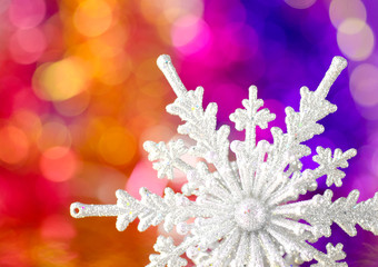Christmas decorations on a colorful background.