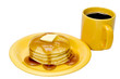 Pancakes and Coffee  Isolated