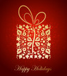 Abstract christmas background. Floral gift. Vector