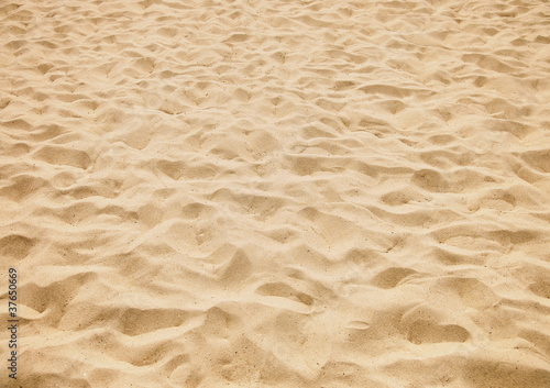 texture of yellow sand on the beach